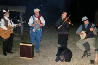 Around the Halloween Campfire at Jamestown's Fright Night.